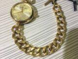 orologio burberry donna quarzo con chiusura tipo tiffany tutto in argento 925%. dorato swissw made