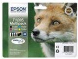 """MULTIPACK EPSON """"Volpe"""" C13T12854010/12 4 cart. NERO, MAGENTA, GIALLO, CIANO x S22 -SX125- SX420W- BX305F BLISTER TAGLIA M"""
